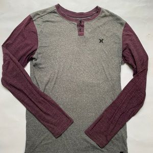 Men's pullover Hurley Henley size small fitted